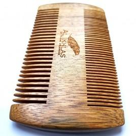 Peigne à barbe en bois double